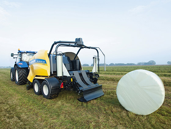new holland rundballenpressen